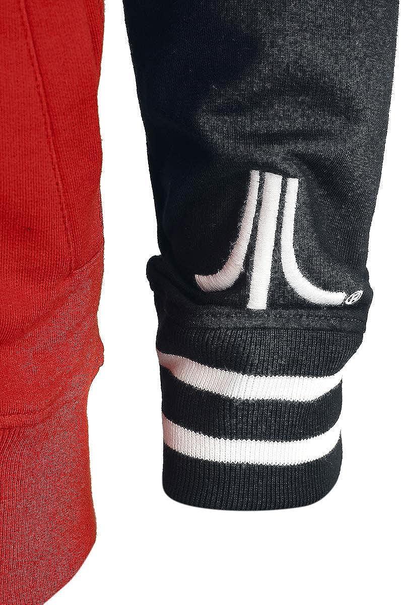 Atari Kapuzenpullover Classic Retro Gamer Logo Nue offiziell Herren Zipped Rot