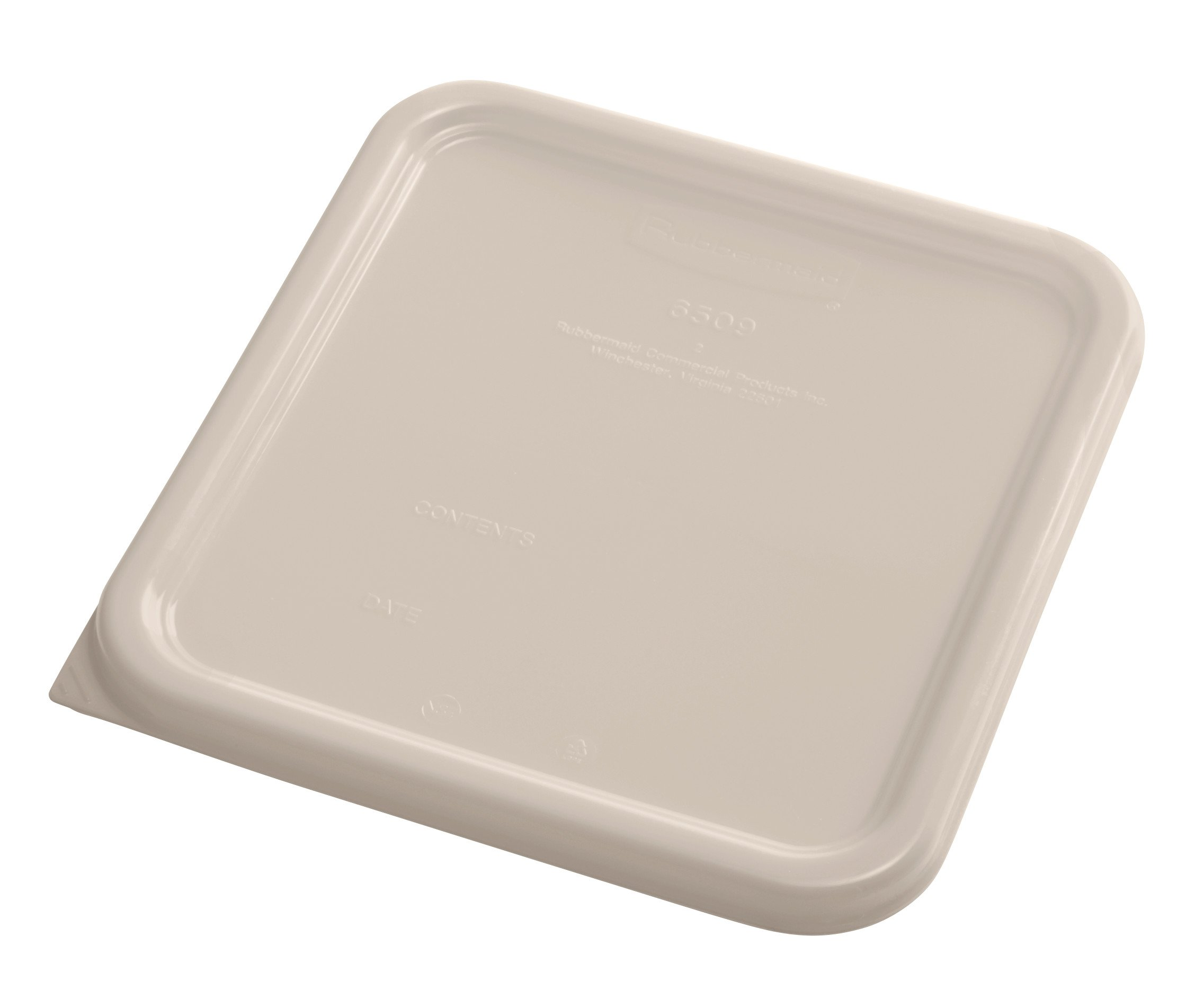 Rubbermaid Commercial Products 1980305 Rubbermaid Commercial Plastic Food Storage Container Lid, Square, Brown, 4 and 8 Quart by Rubbermaid Commercial Products