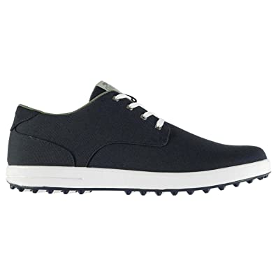 82a671f1e77 Slazenger Mens Canvas Spikeless Golf Lace Up Shoes Padded Ankle Collar  Flexible Navy UK 8 (