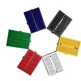 Aoyoho 12pcs 6 Color 170 Points Mini Solderless Breadboard for Arduino Proto Shield
