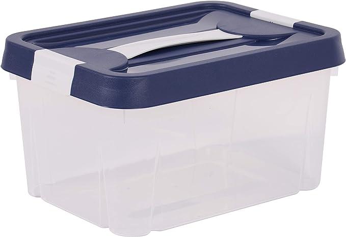 EDA 10269 NA/BPF-BL - Caja de almacenaje Clipy, 9 L, Polipropileno ...
