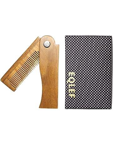 EQLEF® Pocket peine, sándalo Verde no estática peine hecho a mano,Ebony peine
