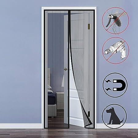 MODKOY Mosquitera Magnética para Puertas, Cortina Mosquitera para Puertas, Adsorción magnética Plegable Circulacion de Aire Puertas/para Pasillos - Negro 75x215cm(29x84inch): Amazon.es: Hogar
