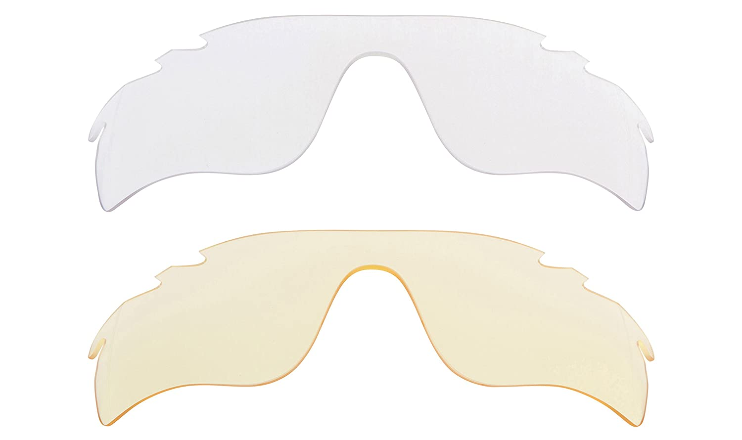01dadf4d431d Vented Radarlock Path Replacement Lenses Hi Yellow   Clear by SEEK fits OAKLEY  at Amazon Men s Clothing store
