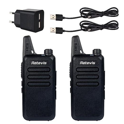 53 opinioni per Retevis RT-22 Walkie Talkie 2W UHF 16 Canali CTCSS/DCS VOX Due Radio