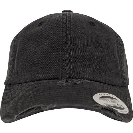 bf0b75555cdcde Flexfit Low Profile Destroyed Caps Black one Size: Amazon.de: Sport ...