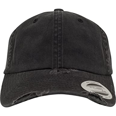 9dd7b56937d66 Flexfit Low Profile Destroyed Strapback Cap - Black - One Size at ...