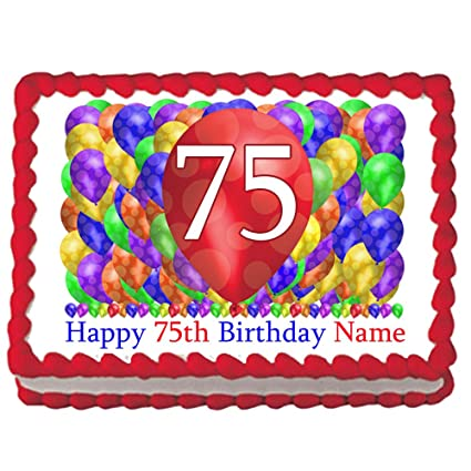 Partypro 75TH BIRTHDAY BALLOON BLAST EDIBLE IMAGE Each