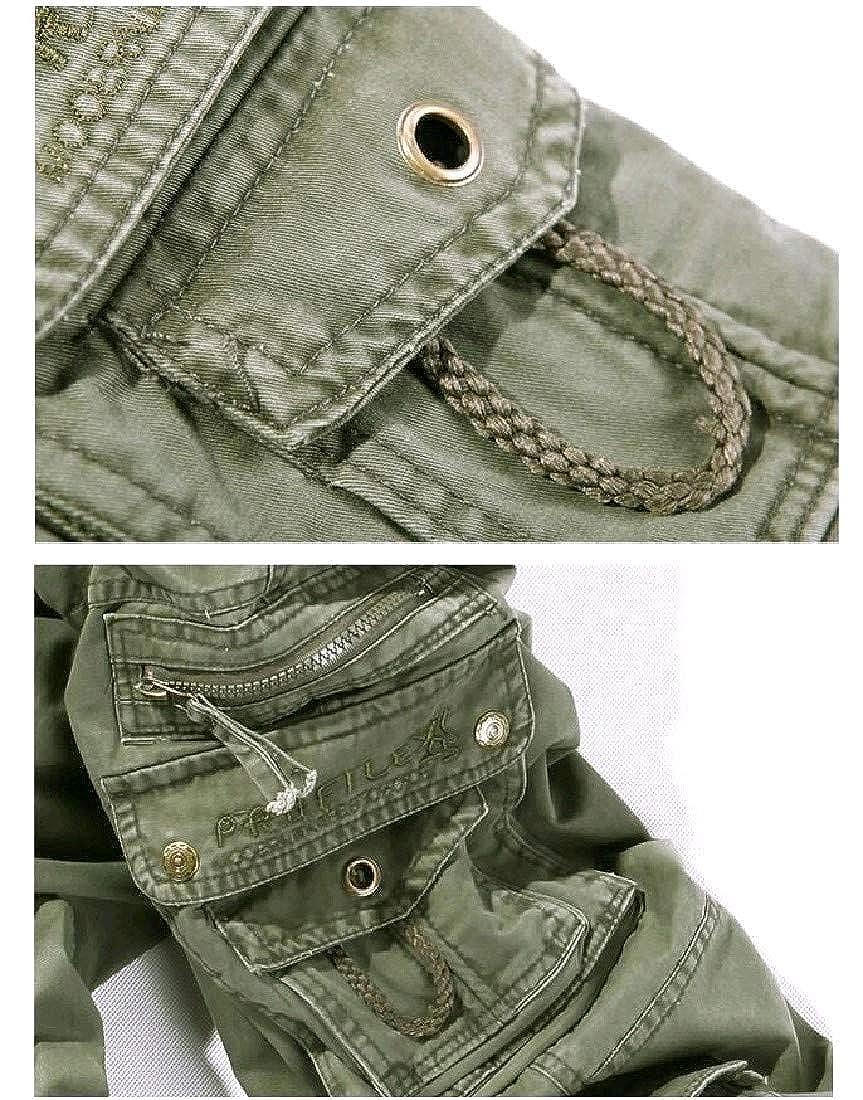 Winwinus Mens Outdoor Plus Size Pocket Pure Color Cargo Pants Trousers