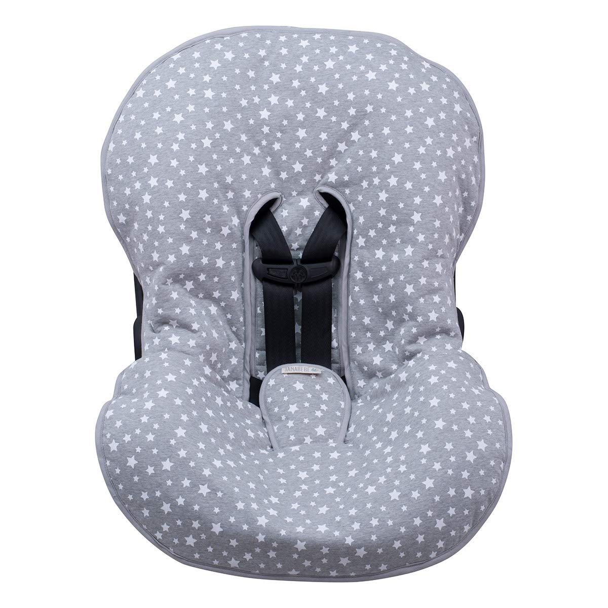 JANABEBÉ Universal Padded Cover Liner for Baby Carriers and CAR SEAT (Maxi COSI MICO, CHICCO, BRITAX, ETC) (White Star) by JANABEBE