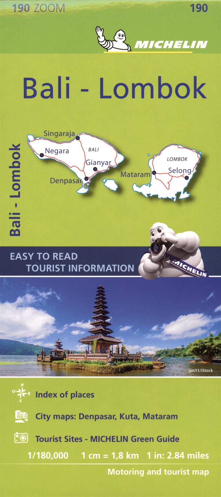 Mapa Zoom Bali-Lombok (Mapa Zoom Michelin)