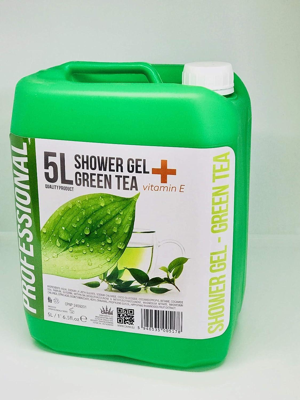 Profesional Baño & Gel de ducha Té Verde 5 litros recambio: Amazon.es: Belleza