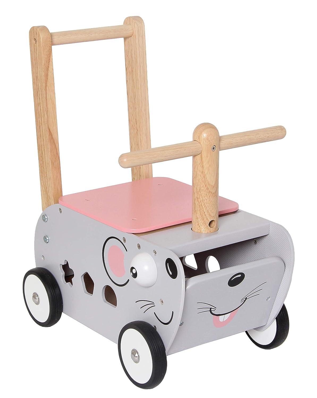 Im Toy Correpasillos de Madera Raton: Amazon.es: Juguetes y juegos