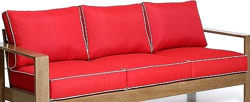 Creative Living Patio Furniture Red-3Cushion Sofa Cushions,Deep Seat Cushion Pillow