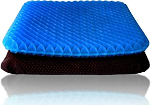Gel Office Chair Cushion, Thick Egg Seat Cushion with Non-Slip Cover, Breathable Chair Pads for Office, Home, Car, Wheelchair, Chair - Help in Relieving Back Pain & Sciatica Pain