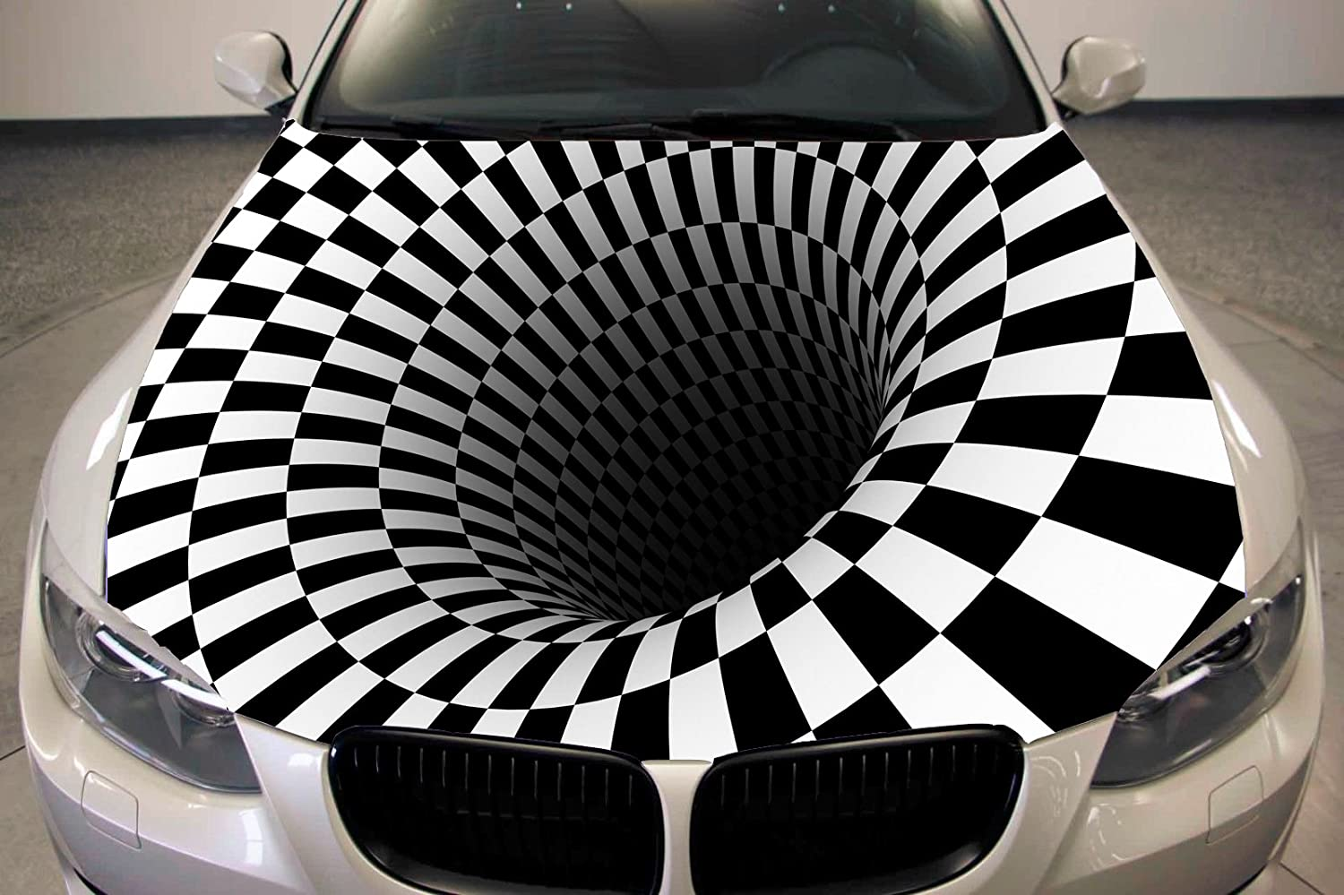 Amazon com black hole full color sticker abstract car hood vinyl sticker car vinyl graphics decal wrap car hood graphics fit any vehicles mh397 baby