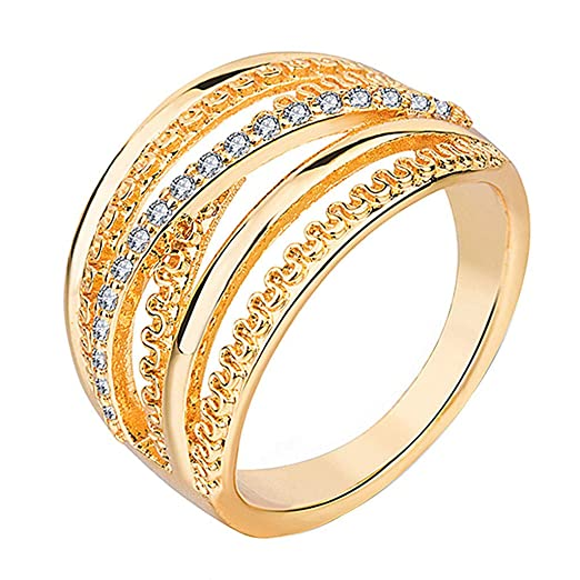 Winkey Anillos para Mujer, Elegante Minimalista Joyas Oro ...