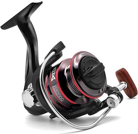 Carrete de pesca de 3 ejes de aluminio con relaci/ón de velocidad de 5.2:1