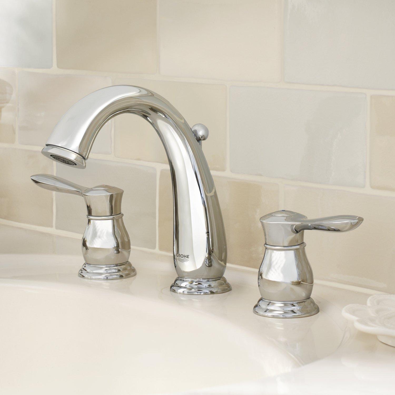 Amazon.com: Parkfield 8 in. Widespread 2-Handle Bathroom Faucet ...