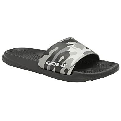 9d1c2e75235b Gola Mens Elko Sports Slides Flip Flops (8 US) (Gray Camo