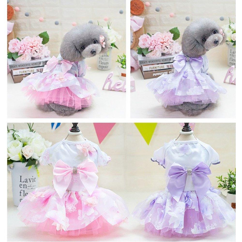 Amazon com: XoiuSyi Small Dog Bow Dress,Pet Dog Bowknot