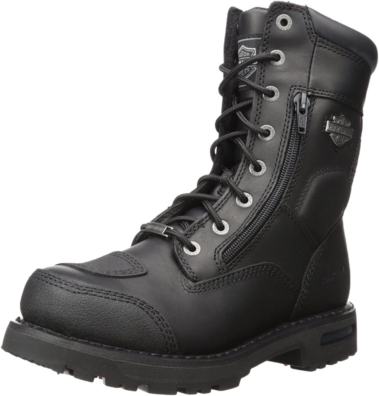 Harley-Davidson Men's Riddick 8-Inch Lace-UP Black Motorcycle Boots D98308: Harley-Davidson: Shoes