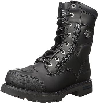 Amazon Com Harley Davidson Men S Riddick 8 Inch Lace Up Black Motorcycle Boots D98308 Harley Davidson Shoes