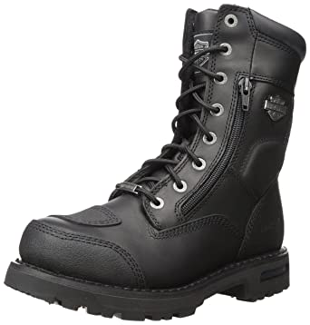 74c923b2e68 Harley-Davidson Men's Riddick 8-Inch Lace-UP Black Motorcycle Boots D98308