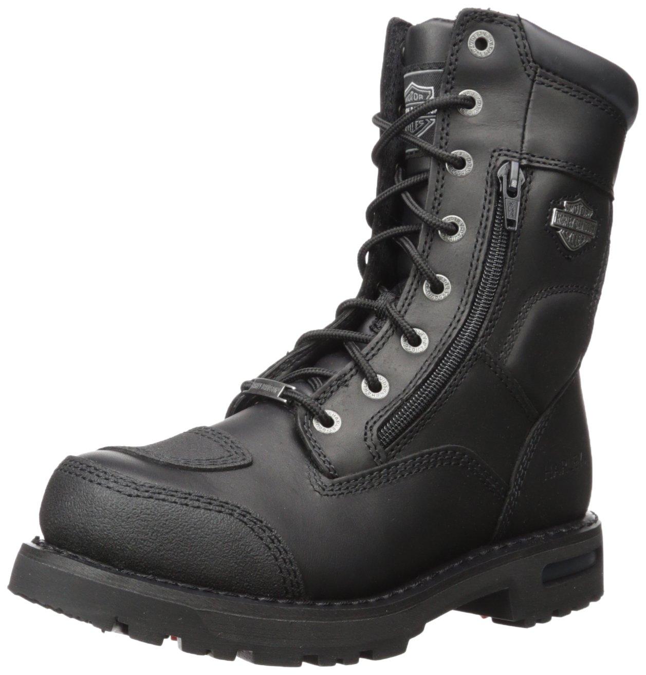 174947d559dfa7 Harley-Davidson Men s Riddick 8-Inch Lace-UP Black Motorcycle Boots D98308