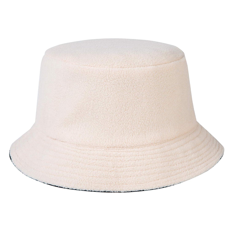 ZLYC Unisex Fashion Bucket Hat PU-Leder Regenhut wasserdicht