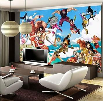 Custom 3d Wallpaper One Piece Photo Wallpaper Japonés Anime Wall Mural Cartoon Kid Bedroom Tv Telón De Fondo Pared Habitación Decoración Blue Sky Ancho350cm * Altura250cm Un: Amazon.es: Bricolaje y herramientas