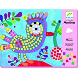 Djeco Sticker Mosaic Craft Kit, Bird and Ladybug by Djeco