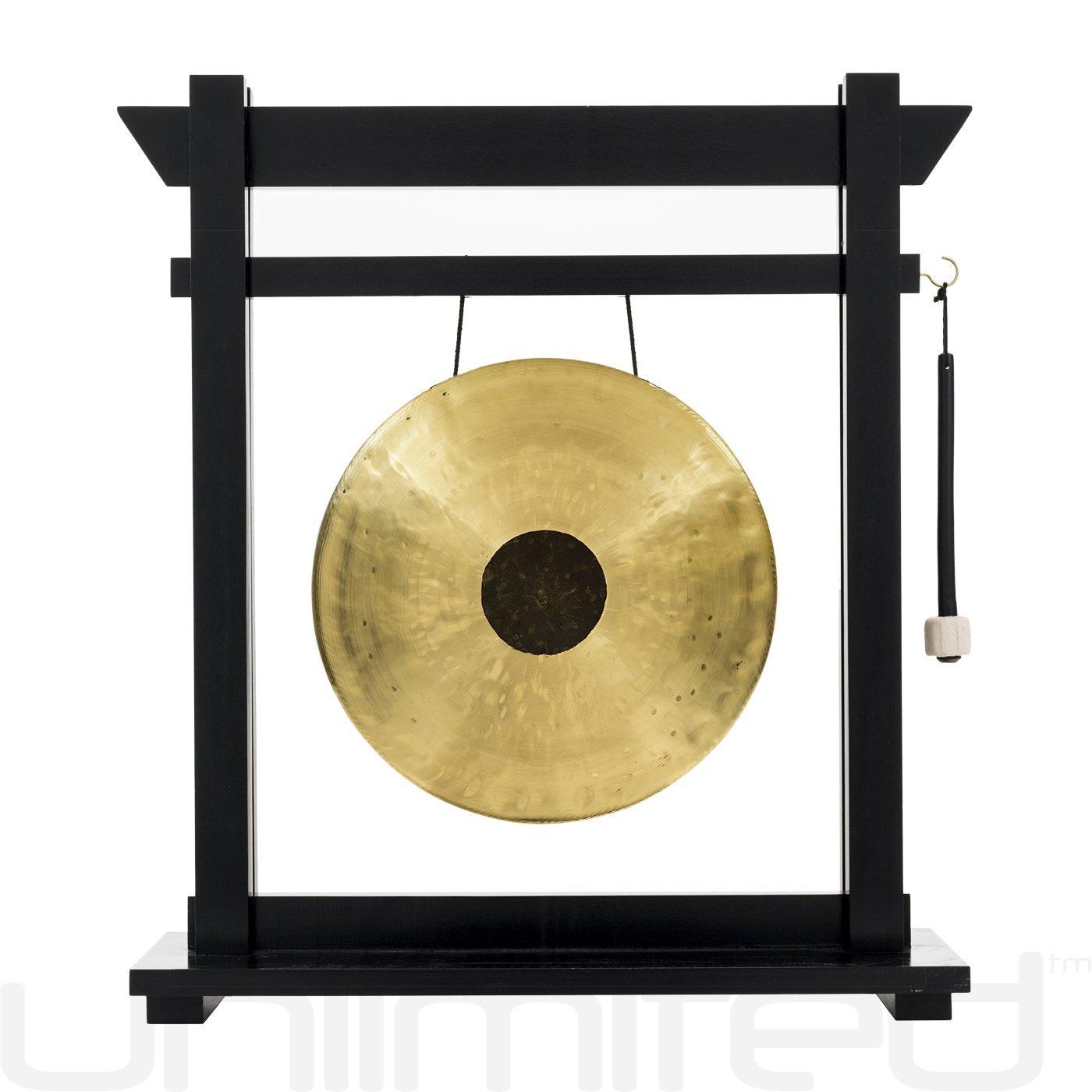 14'' Gongs on the Moksha Joe Gong Stand - Black by Unlimited