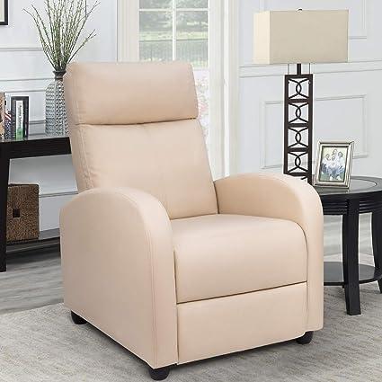 Amazon.com: Homall - Silla reclinable de piel sintética con ...