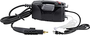 CGOLDENWALL Portable Steam Cleaner High Temperature Pressure Steamer Cleaning Machine 1700W Powerful Steam Tool Upgraded No Built-in Water Tank Design 110V (Black, Read The uploaded Manual First)