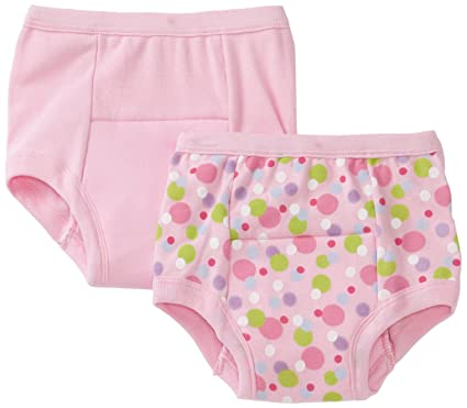 Baby Bloomers 6 Months green sprouts by i play. Training Underwear, Pink Dot, 4T (Pack of 2)