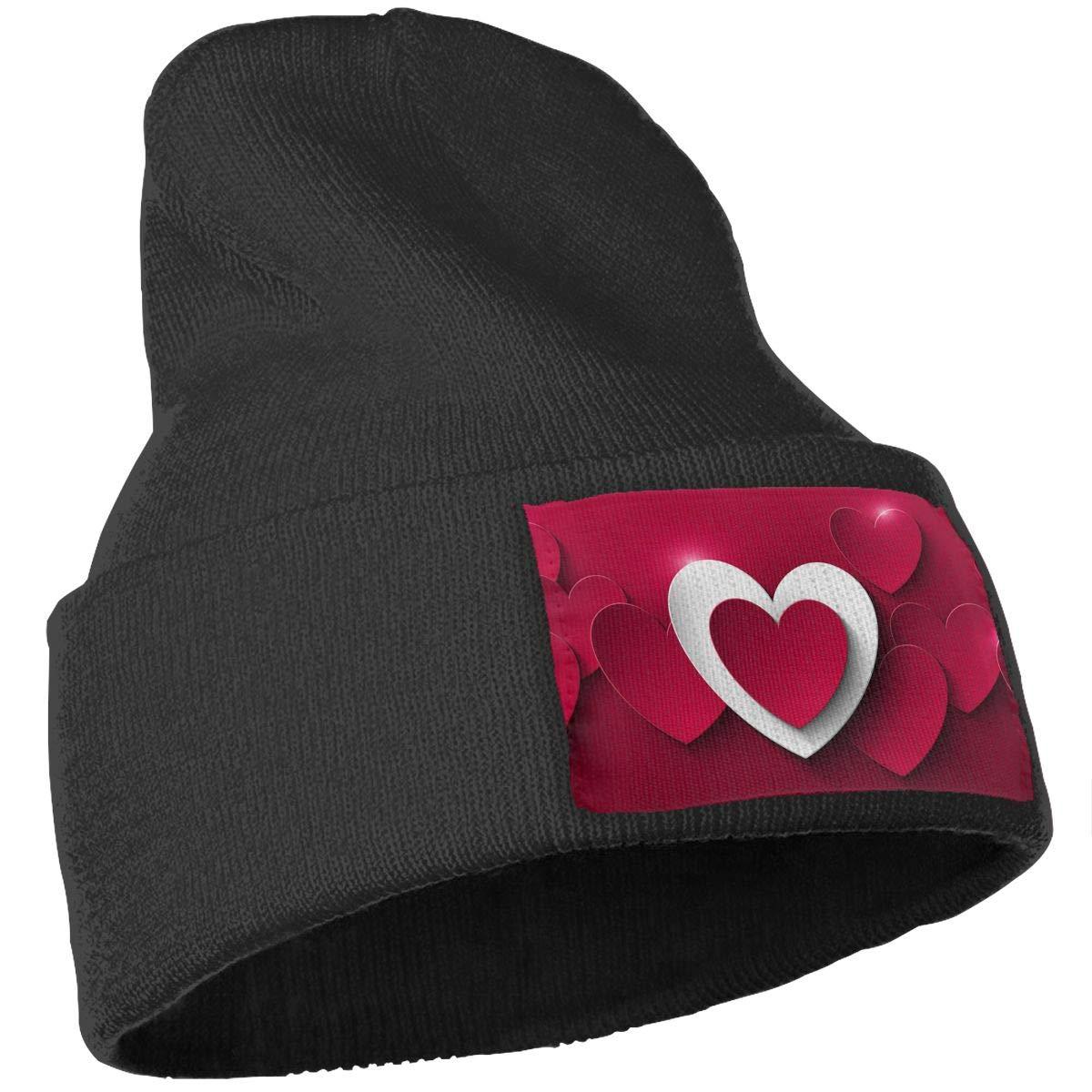 QZqDQ Valentine`s Day Unisex Fashion Knitted Hat Luxury Hip-Hop Cap