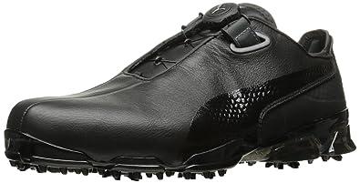 PUMA Golf Men's TT Ignite Premium Disc Golf Shoe, White/Gray/Violet, 10 M US