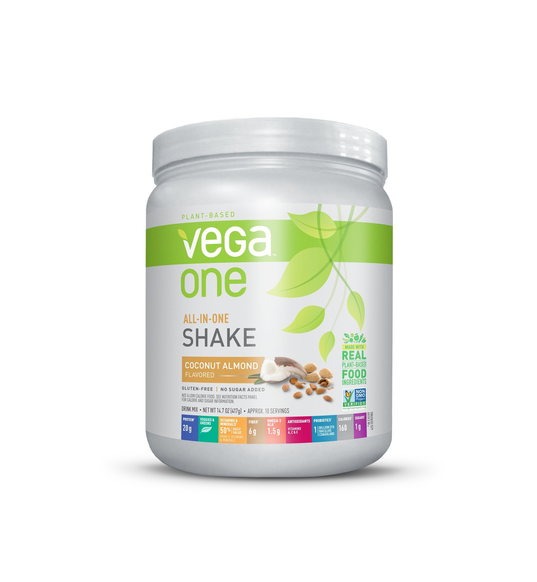 Vega One All-In-One Plant Based Protein Powder, Coconut Almond, 0.92 lb, 10 Servings