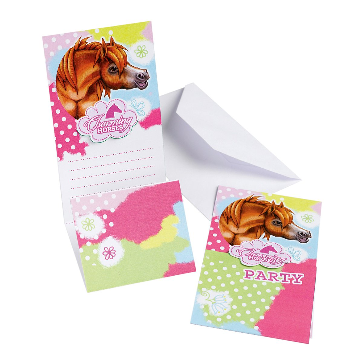 Amscan Charming Horses Invites and Envelopes Party Accessory