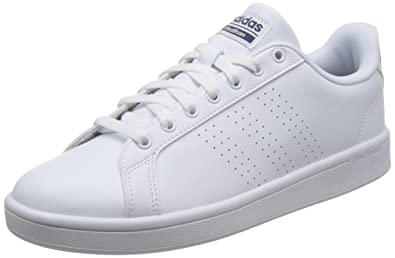 adidas Cloudfoam Advantage, Baskets Basses Homme, Blanc (Footwear  White/Footwear White/