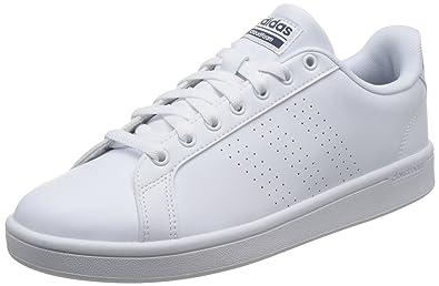 info for c27fb 6acf3 adidas neo Men s Cf Advantage Cl Ftwwht Ftwwht Conavy Leather Tennis Shoes  - 10