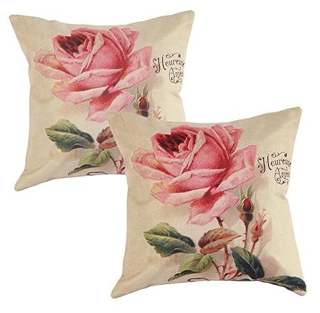 Fundas de Cojines Decorativos Diseño Flores Decoración para ...