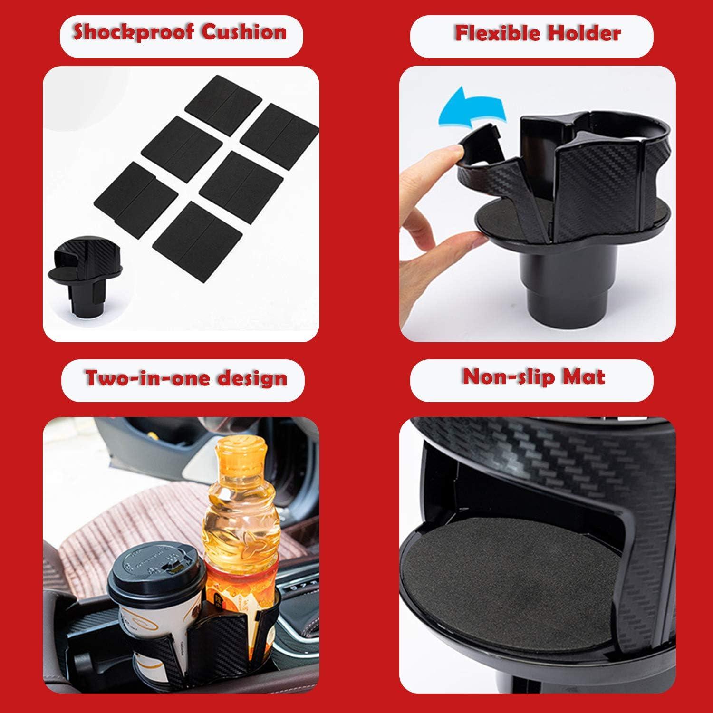 Blizim Auto Porte-gobelet Tasse de Boisson Taille R/églable Support Double Trou