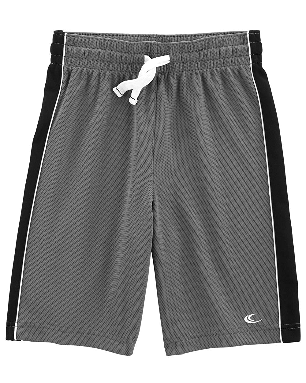 10-12 Kids Grey//Black Carters Big Boys Pull-On Mesh Shorts