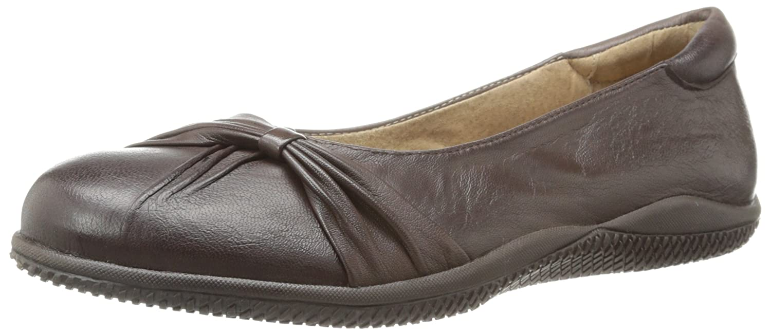 SoftWalk Women's Haverhill Ballet Flat B00HQQX6I4 9 2A(N) US|Dark Brown