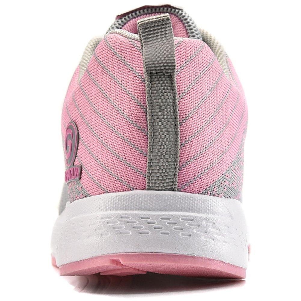 new styles 2bbc8 d573e GUBARUN Mesh Running zapatos mujeres ligeras Cordones casuales Sneakers  Sport Unisex Athletic Caminar tenis Zapatos Gris claro   rosa