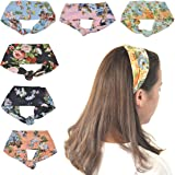Lady Up Vintage Flower Headbands Headwraps Hair Bands Bows Accessories for Fashion Or Sport 6 Pcs