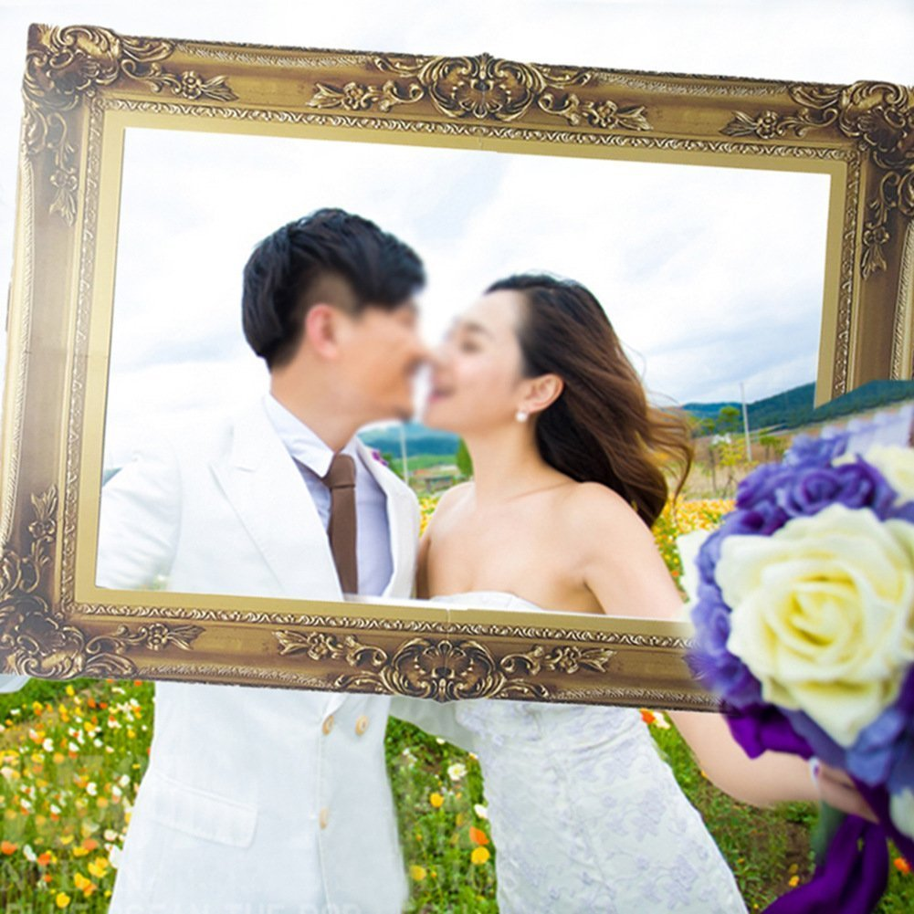 Amazon.com: BinaryABC Photo Booth Paper Picture Frame, Wedding ...
