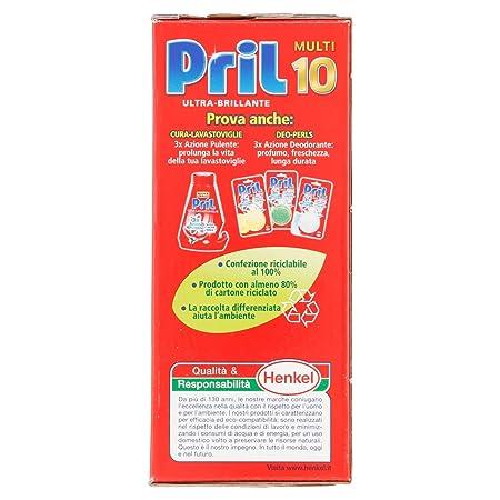 Pril - Gold Detergente para máquinas lavavajillas, 26 piezas - 494 g: Amazon.es: Salud y cuidado personal